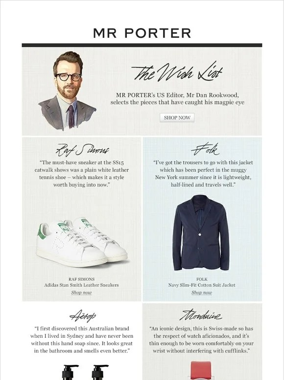 Le Meilleur Mr Porter See What S On Our Us Editor S Wish List Milled Ce Mois Ci
