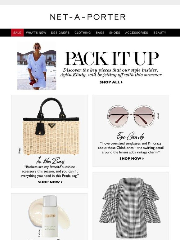 Le Meilleur Net A Porter Discover Our Style Insider's Packing Ce Mois Ci
