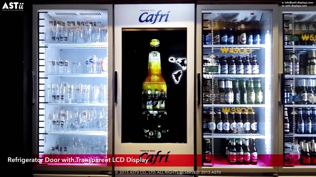 Le Meilleur Refrigerator Door With Transparent Lcd Display Youtube Ce Mois Ci