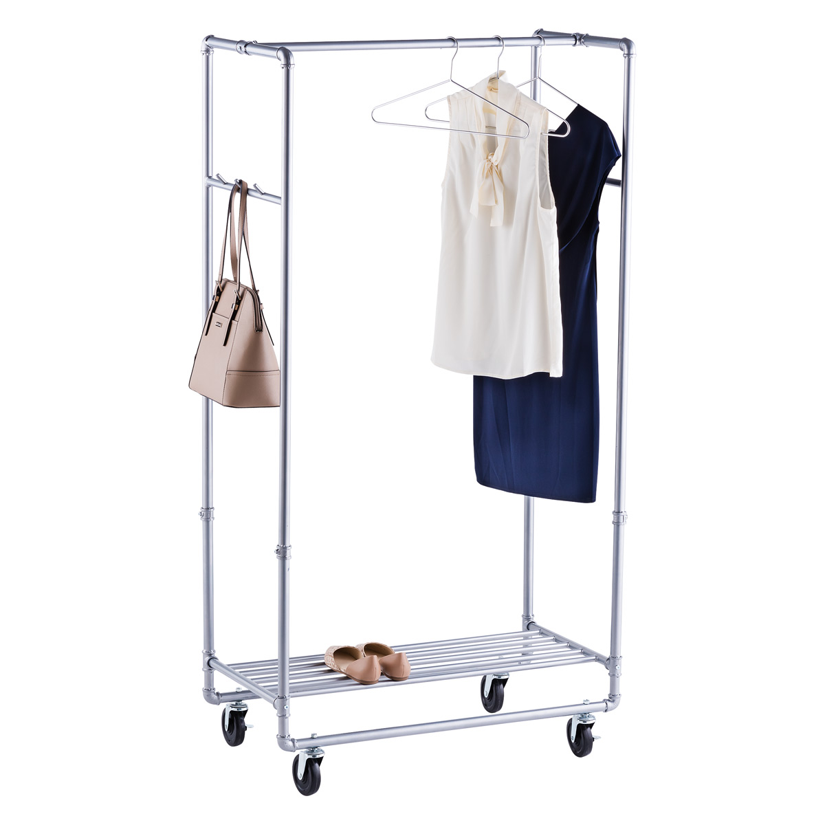 Le Meilleur Industrial Pipe Clothes Rack The Container Store Ce Mois Ci