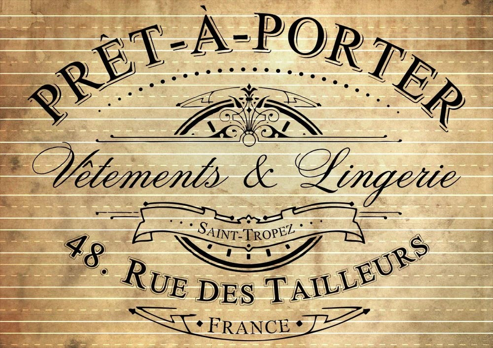 Le Meilleur Instant Download Vintage French Pret A Porter Advert In Ce Mois Ci