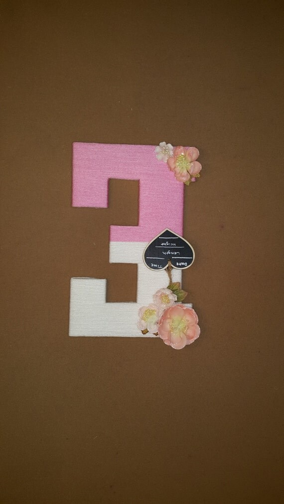 Le Meilleur Personalized Hospital Door Hanging Letter E Pink Yarn Letter Ce Mois Ci