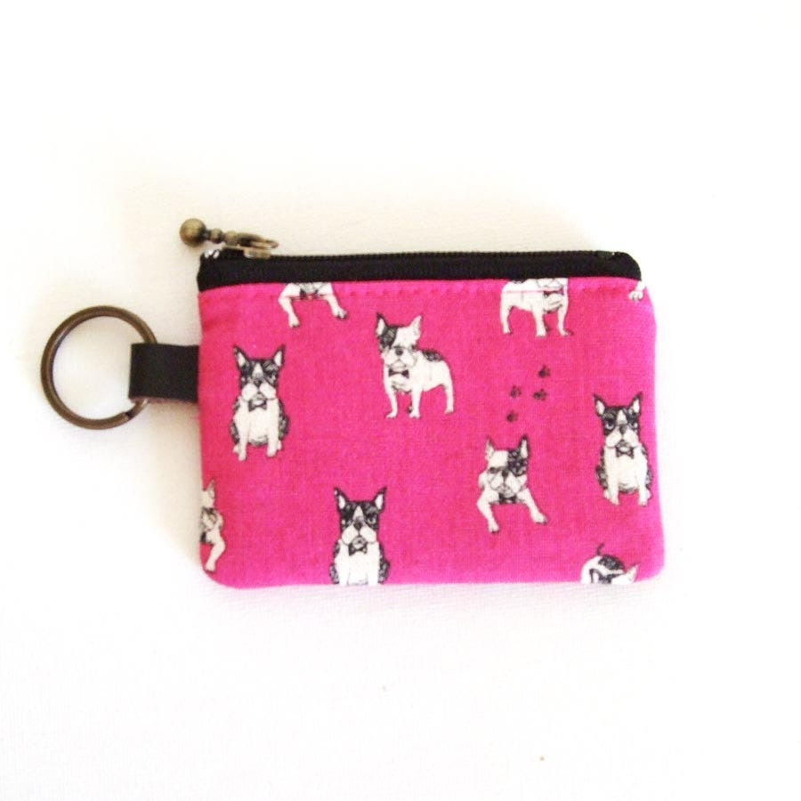 Le Meilleur Key Coin Purse French Bulldog Pink By Seabreezestudio On Etsy Ce Mois Ci