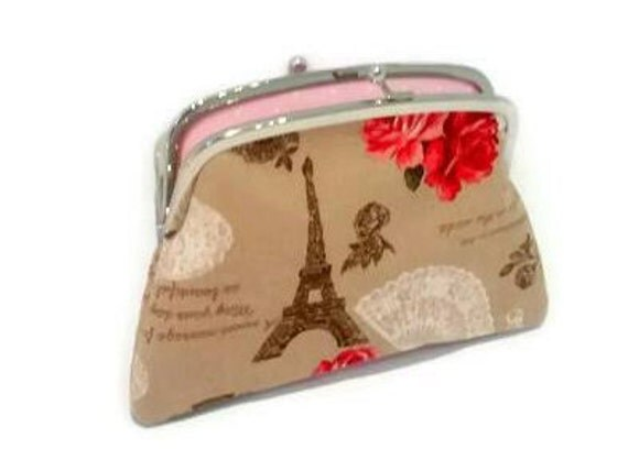 Le Meilleur French Vintage Style Large Fabric Coin Purse With 2 Ce Mois Ci