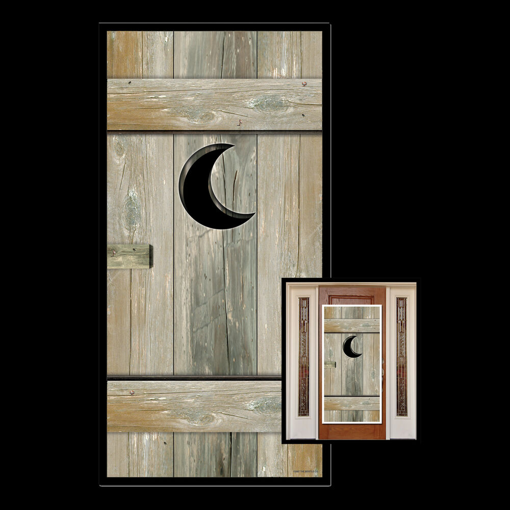 Le Meilleur Funny Outhouse Bathroom Door Cover Western Toilet Over The Ce Mois Ci