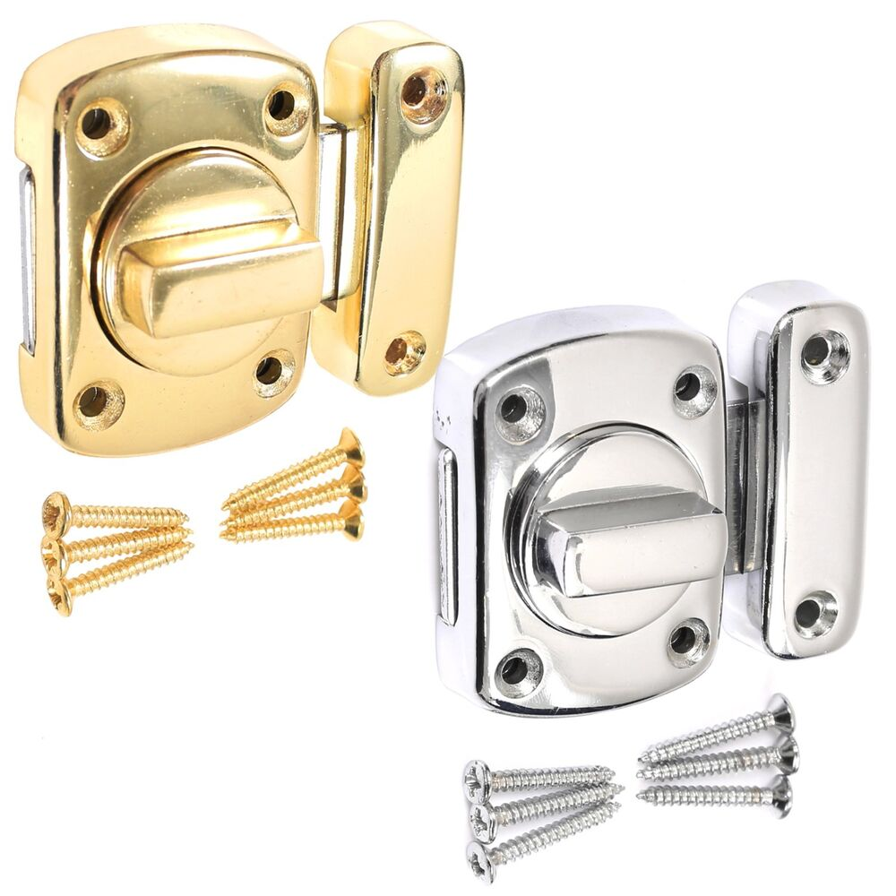 Le Meilleur Bathroom Door Lock Chrome Or Brass Toilet Turn Twist Bolt Ce Mois Ci
