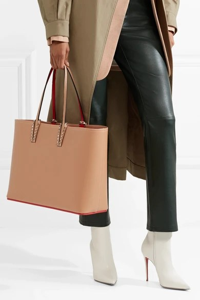 Le Meilleur Christian Louboutin Cabata Spiked Textured Leather Tote Ce Mois Ci