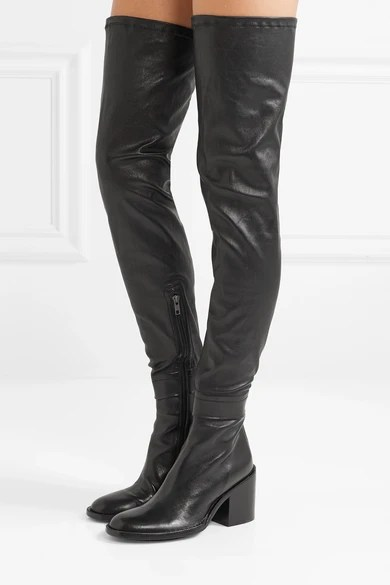 Le Meilleur Ann Demeulemeester Stretch Leather Thigh Boots Net A Ce Mois Ci