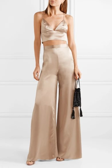 Le Meilleur Cami Nyc The Tommy Silk Charmeuse Wide Leg Pants Net A Ce Mois Ci