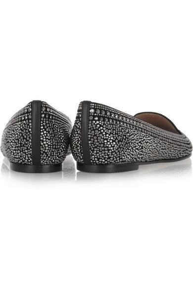Le Meilleur Valentino Crystal Studded Suede Slippers Net A Porter Com Ce Mois Ci