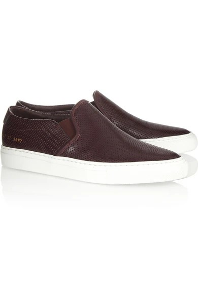 Le Meilleur Common Projects Perforated Leather Slip On Sneakers Ce Mois Ci