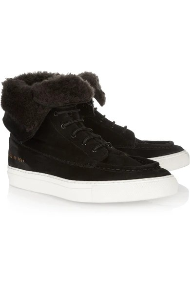 Le Meilleur Common Projects Faux Shearling Lined Suede Ankle Boots Ce Mois Ci