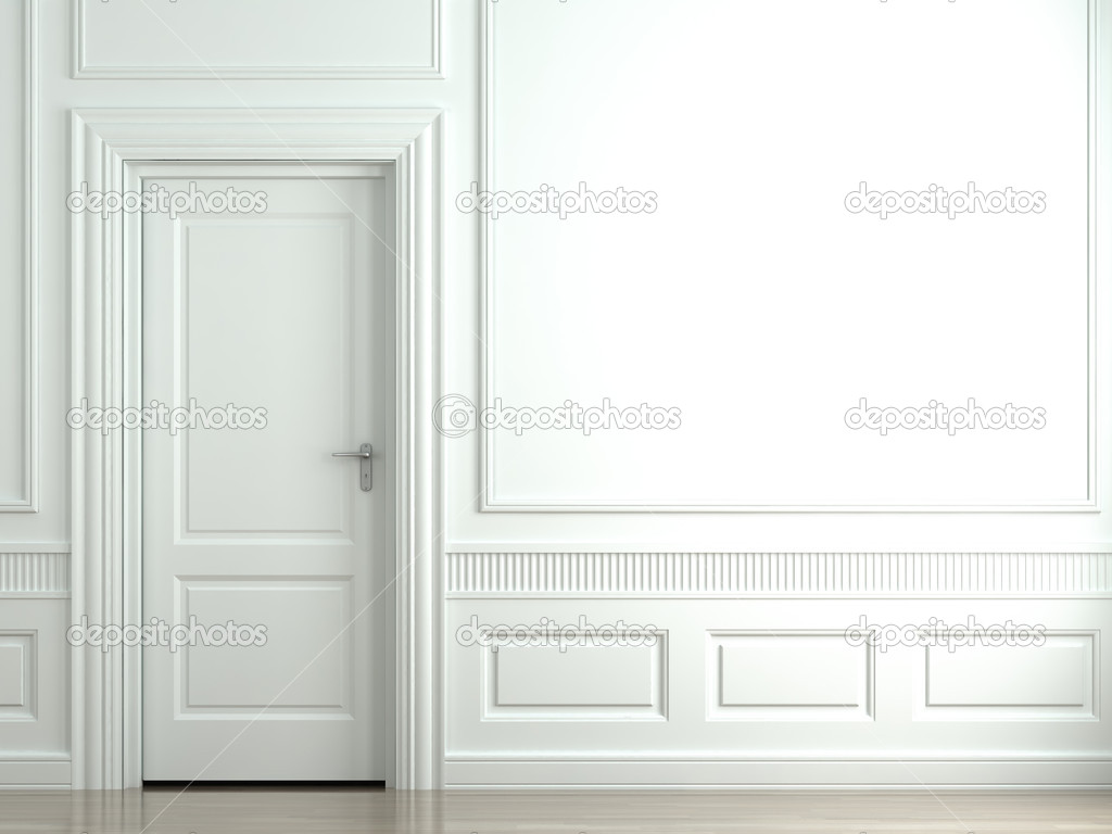 Le Meilleur White Classic Wall With Door — Stock Photo © Arquiplay77 Ce Mois Ci