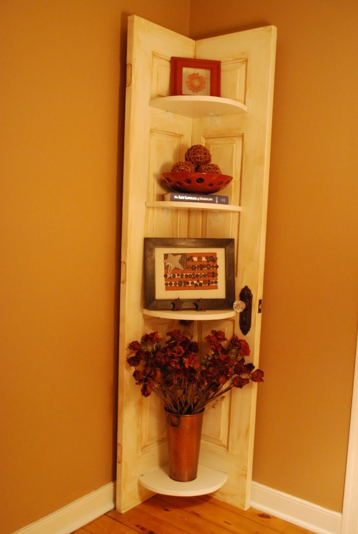 Le Meilleur From Door Into Corner Shelf Perfect Repurposed Old Ce Mois Ci