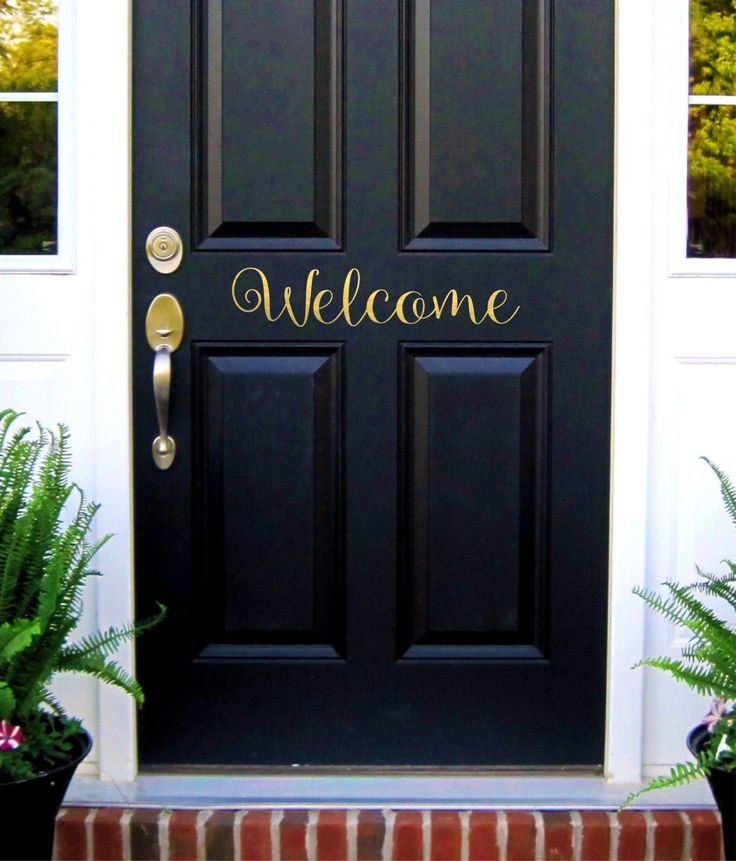 Le Meilleur Welcome Door Decal Welcome Sign Vinyl Lettering Welcome Ce Mois Ci