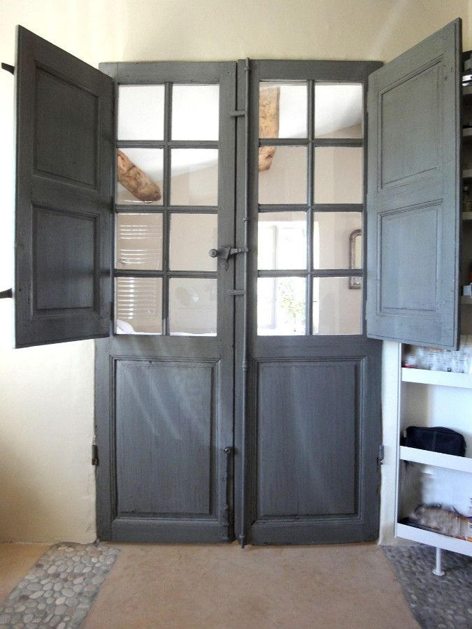 Le Meilleur French Door With Folding Shutters Decorative Door Between Ce Mois Ci