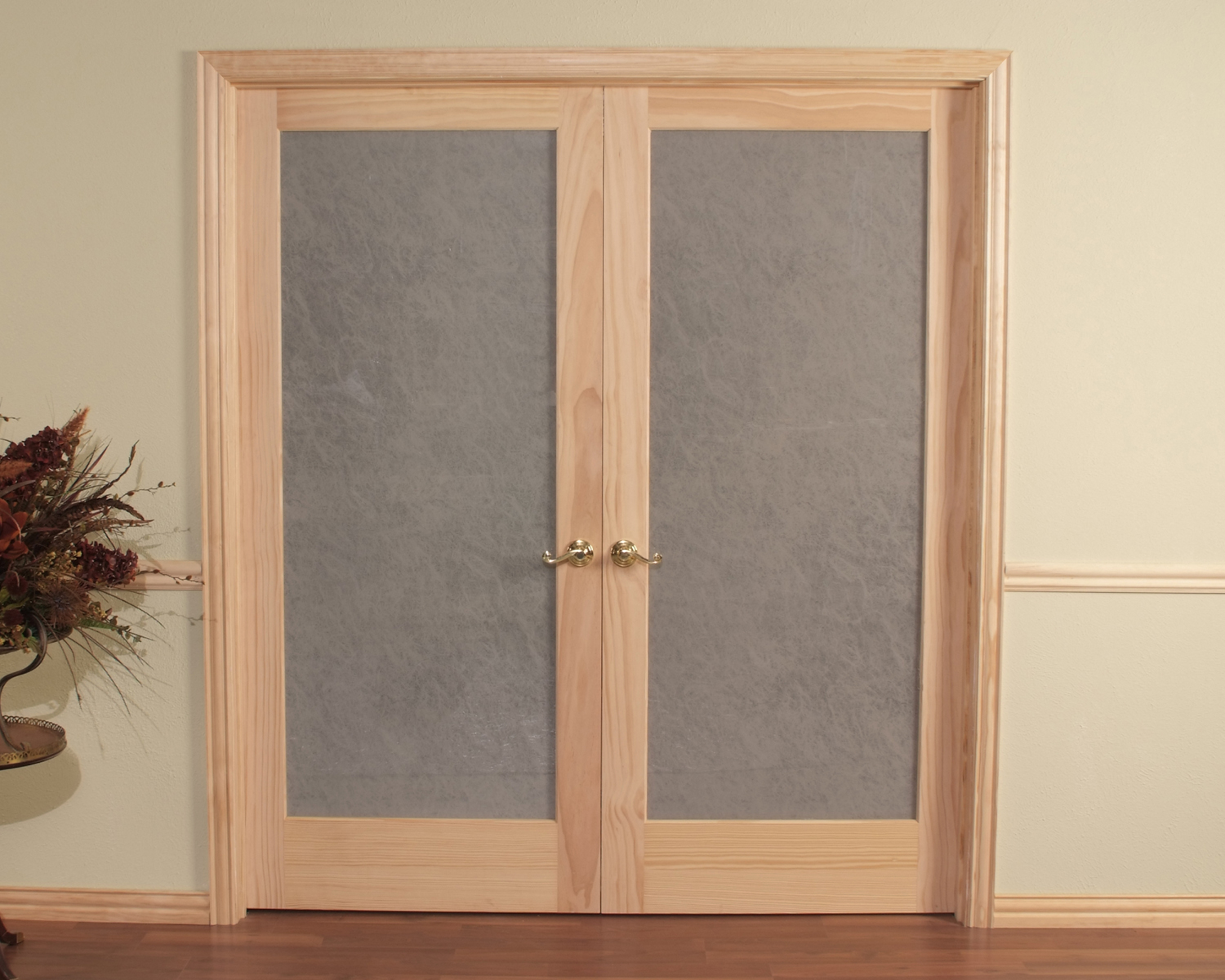 Le Meilleur Opaque Double Prehung Passage Door Frosted Tempered Glass Ce Mois Ci