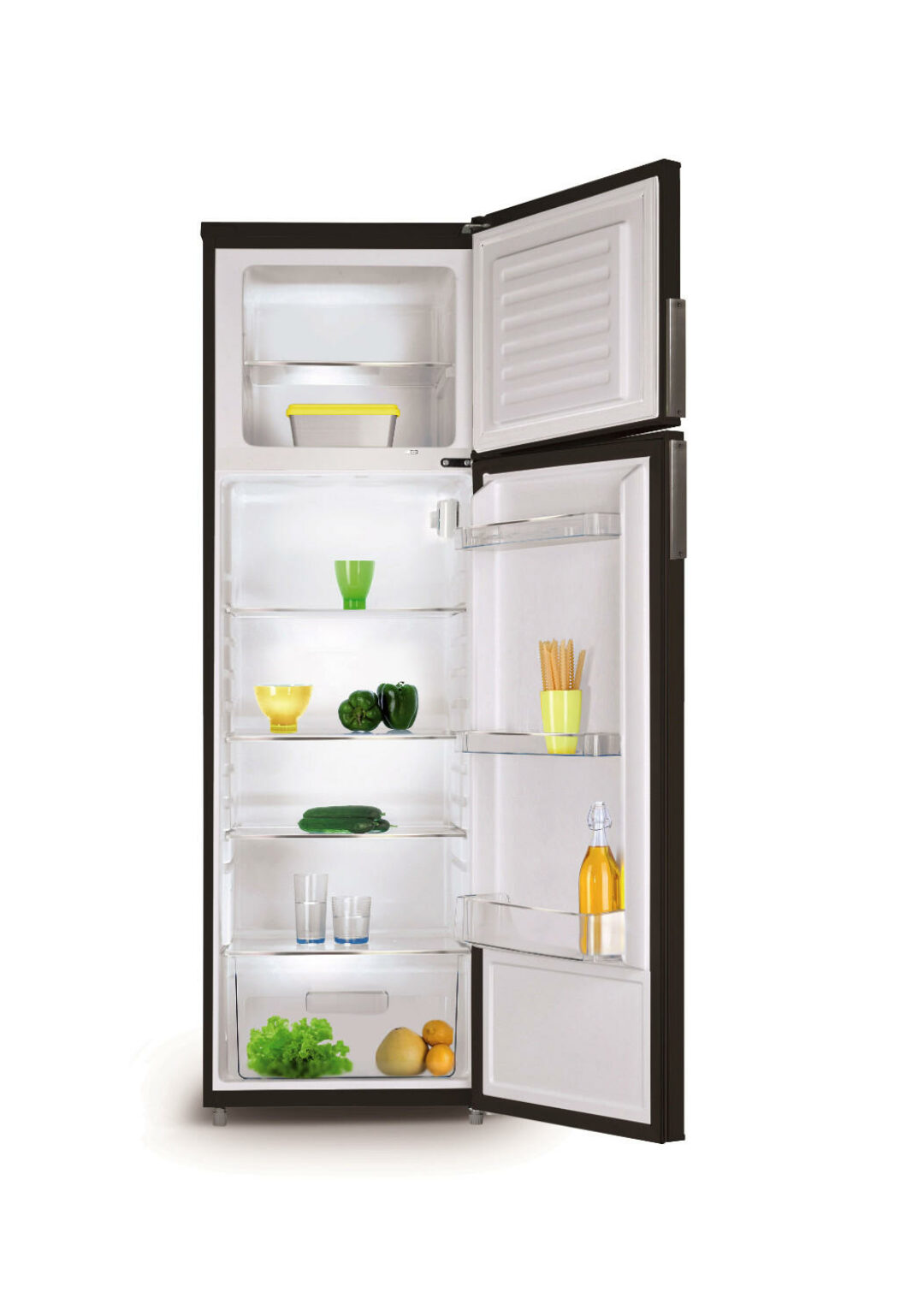Le Meilleur Refrigerator With 2 Doors In Black Matte Finish 208 L Ce Mois Ci