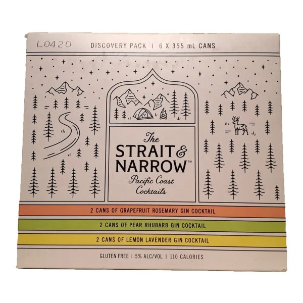 The Strait & Narrow Pacific Coast Cocktails Discovery Pack