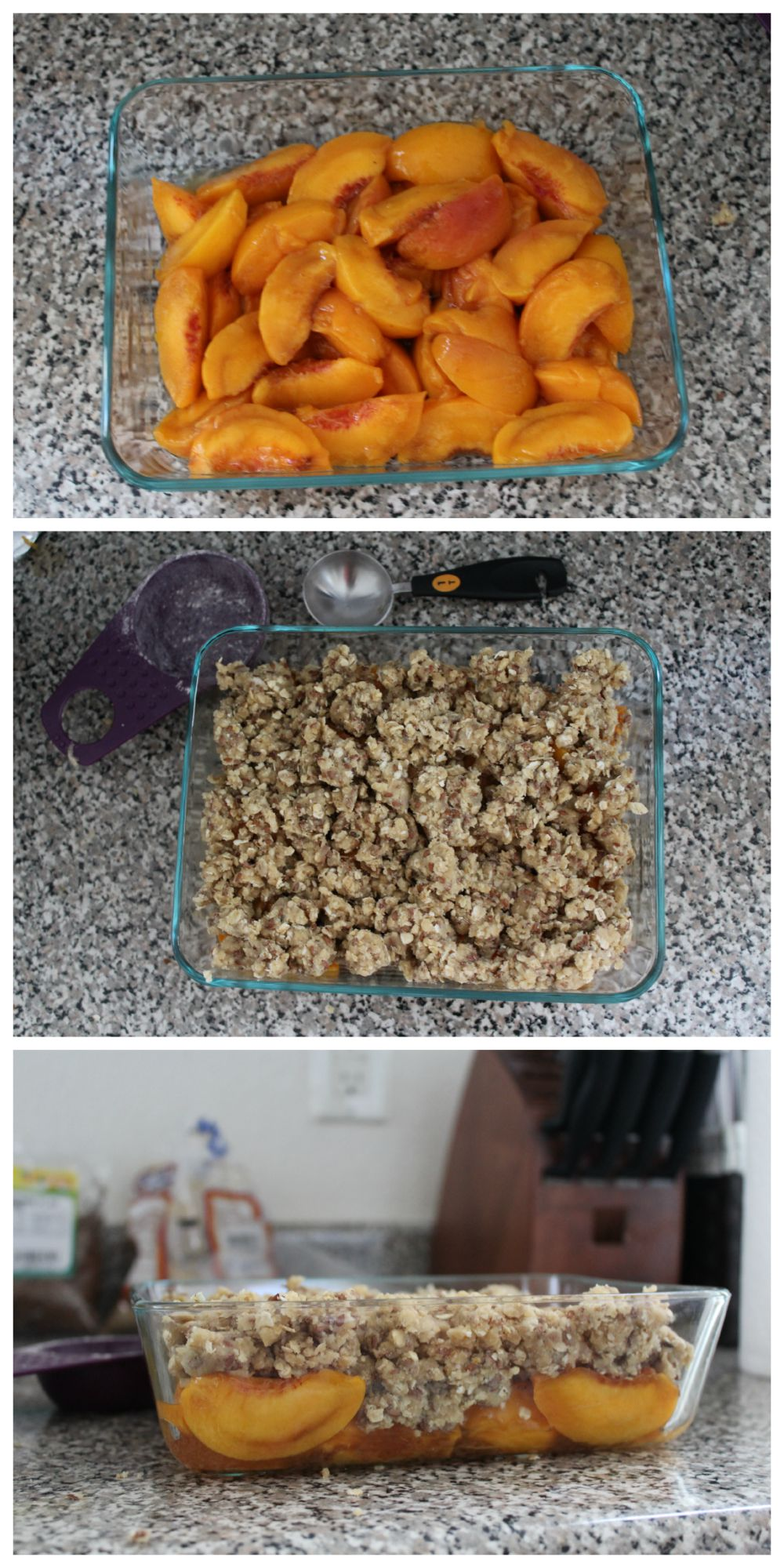 Drunken Peach Crisp Recipe from Rocky Mtn Bliss.
