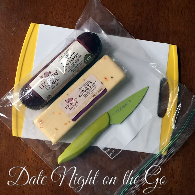 For an easy date night on the go, pack treats into a ziplock bag.