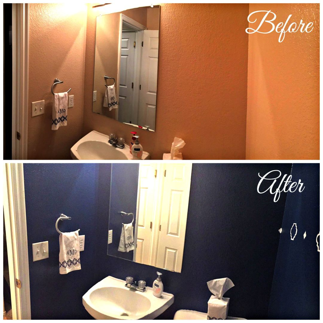 Before and after bathroom transformation