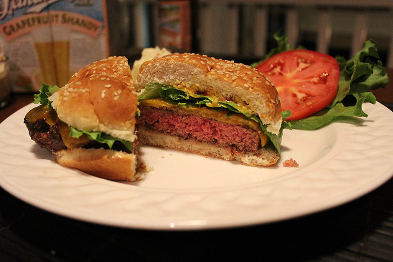 Finish your burger with your favorite toppings