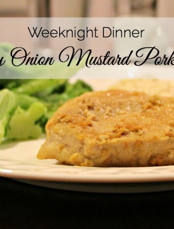 Weeknight meal recipe: Mustard Pork Chops is the perfect quick dinner full of flavor.