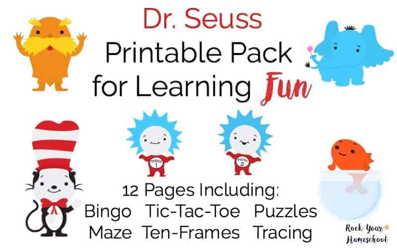 Free Dr Seuss Printable Pack For Learning Fun Rock Your Homeschool