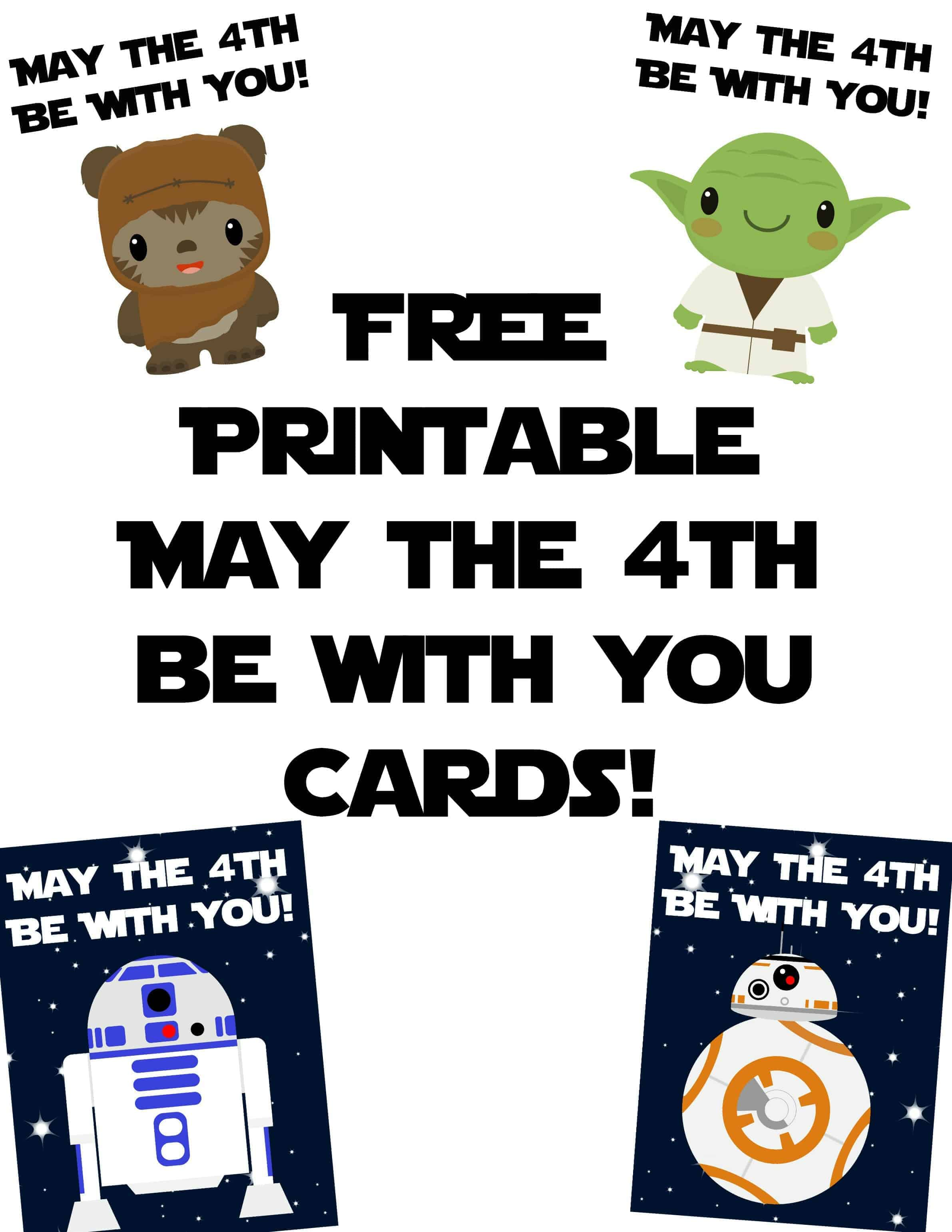 Star Wars Cards For May The 4th Be With You
