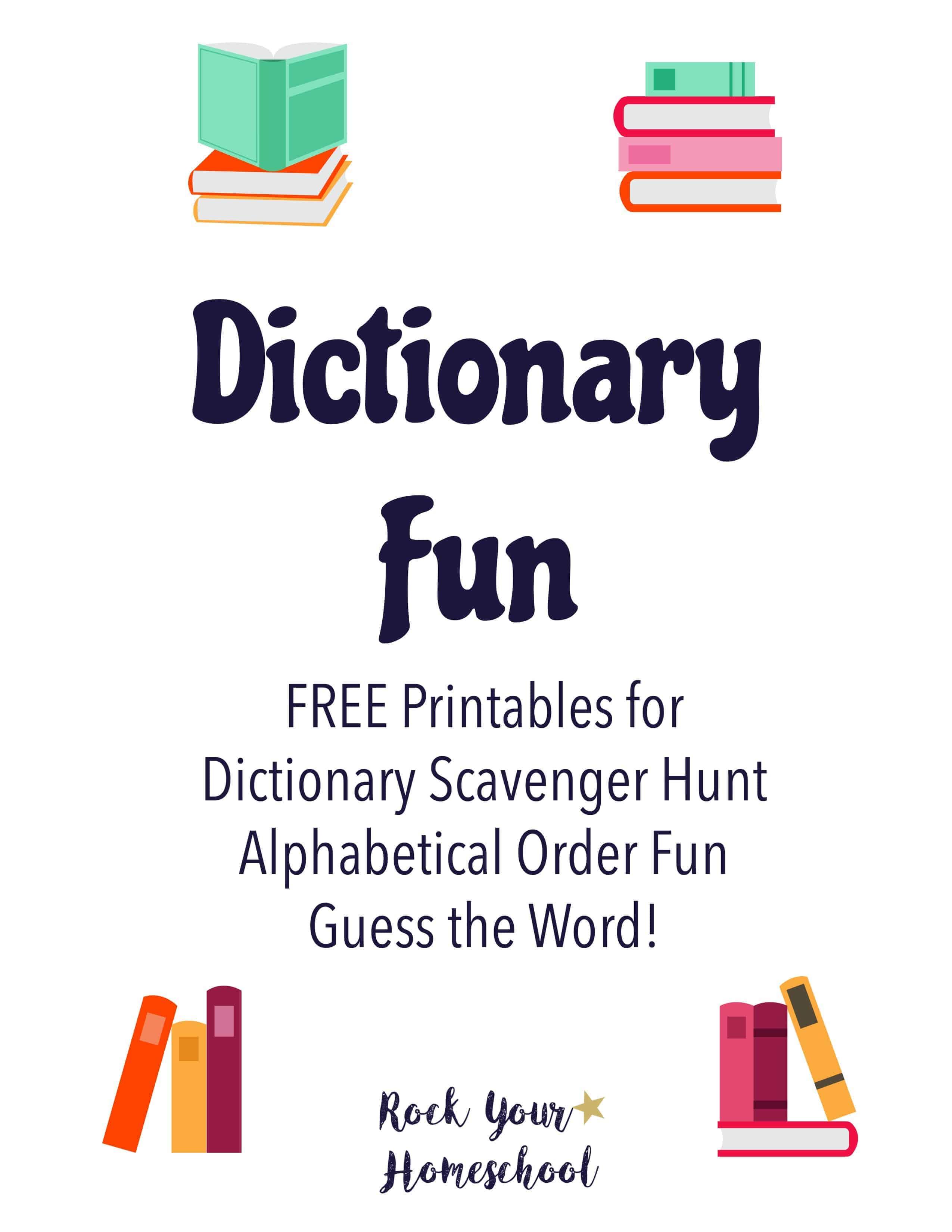 Dictionary Fun Printables