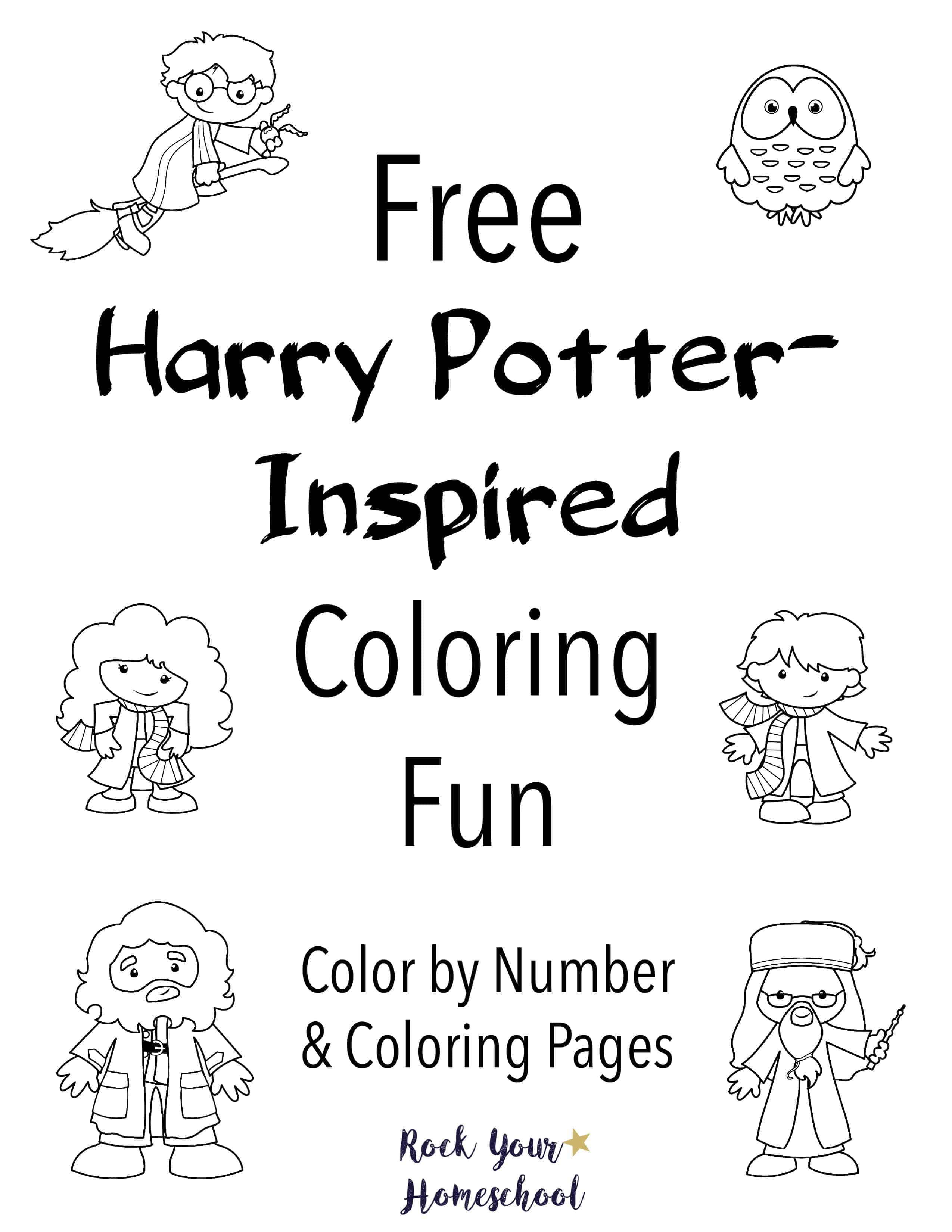 Free Harry Potter Inspired Coloring Fun