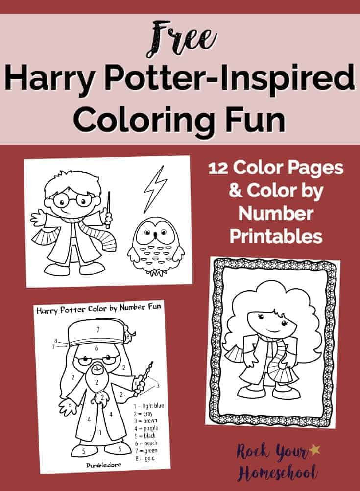 Free Printables for Harry PotterInspired Coloring Fun