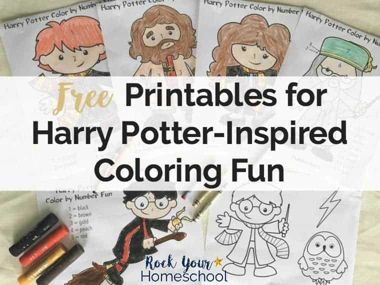 Free Printables For Harry Potter Inspired Coloring Fun