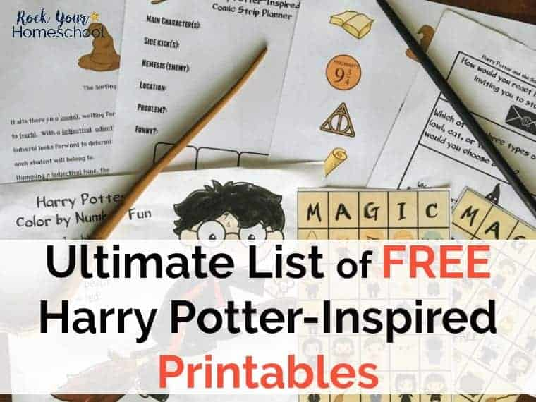 Ultimate List Of Free Harry Potter Inspired Printables Rock Your Homeschool