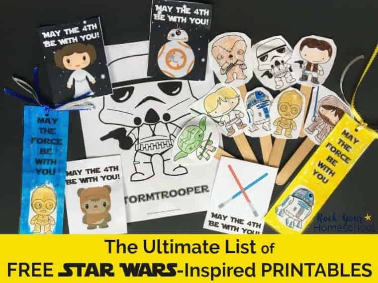 The Ultimate List Of Free Star Wars Inspired Printables Rock Your Homeschool