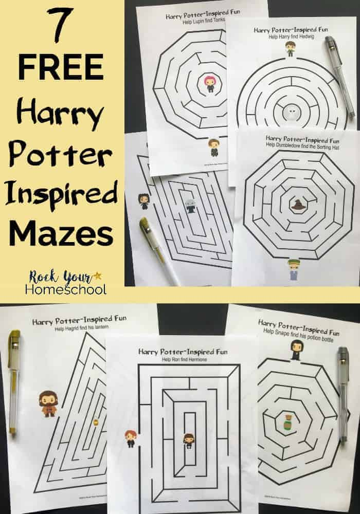 7 free harry potter inspired mazes kids will love rock your homeschool