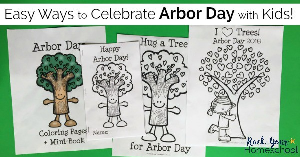 Free Fun Arbor Day Coloring Pages for Kids - Rock Your Homeschool