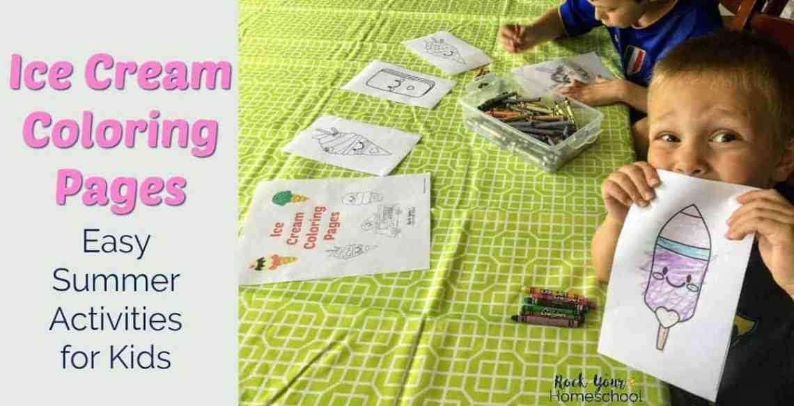 These Ice Cream Coloring Pages Are Easy Ways To Enjoy Summer Fun With Your Kids