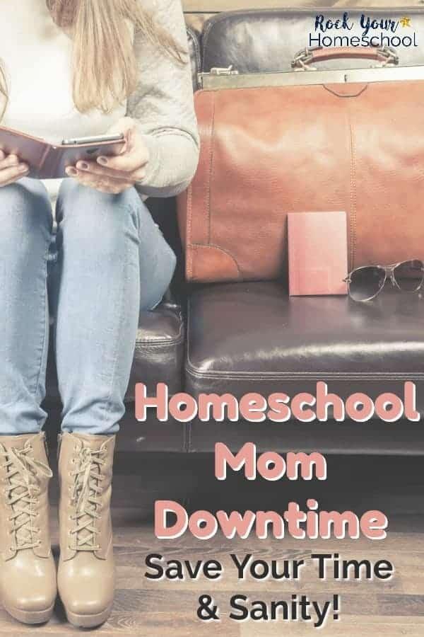 15 smart things to do when you have homeschool mom downtime rock woman wearing blue jeans light brown boots reading a book sitting on brown leather couch solutioingenieria Image collections