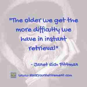 Kathe Kline and Janet Rich Pittman talk about How Thinking Changes as we get older