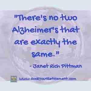 Janet Rich Pittman and Kathe Kline talk about Alzheimer's: How the Disease Progresses