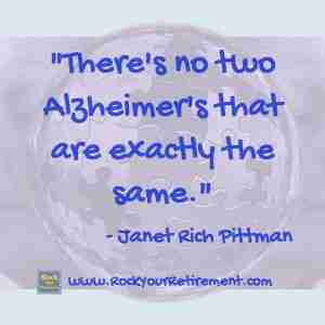 Janet Rich Pittman and Kathe Kline talk about Alzheimer's: How the Disease Progresses