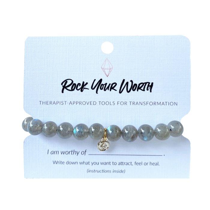 Labradorite Beaded Bracelet Rock Your Worth