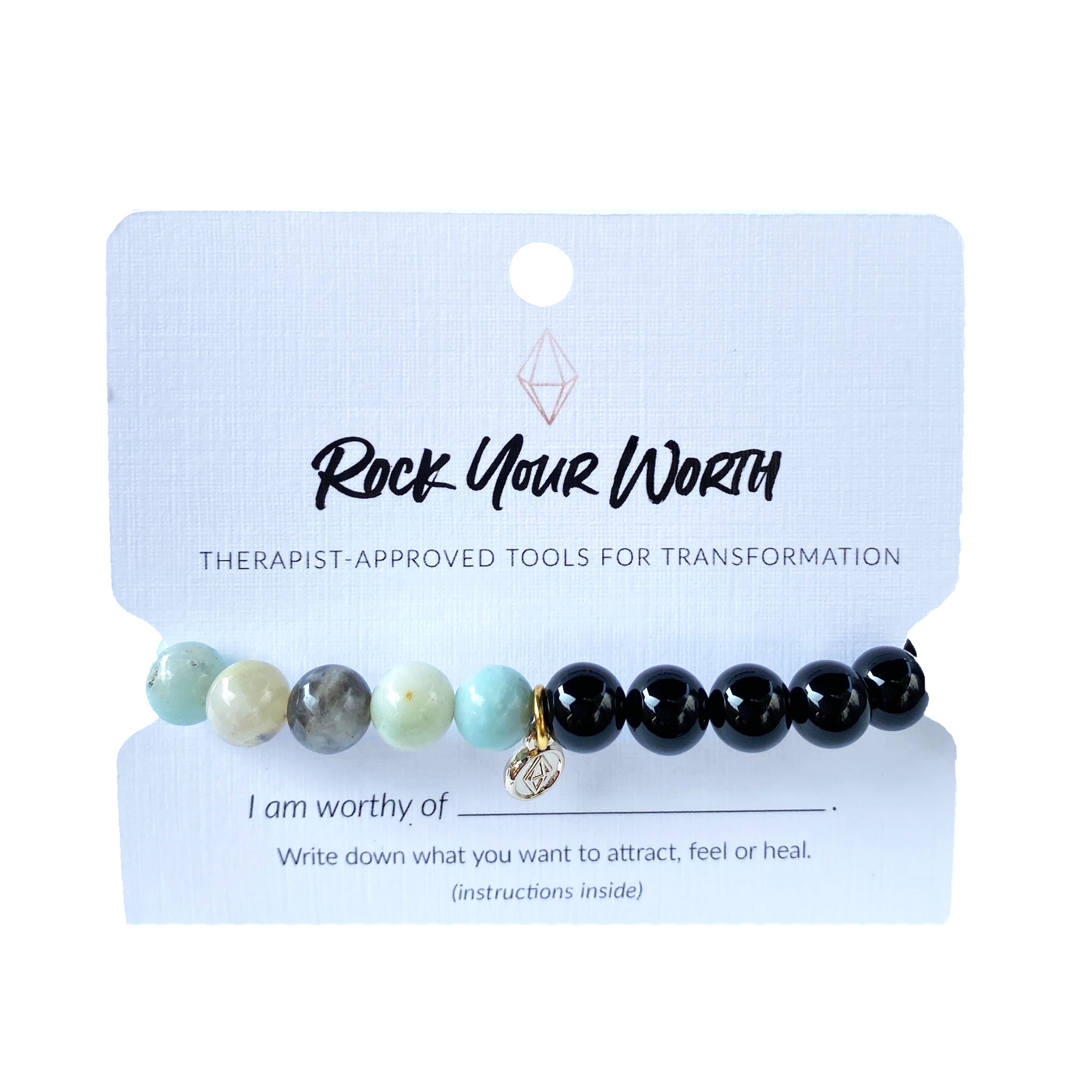 Amazonite Beaded Bracelet Rock Your Worth