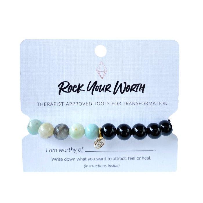 Amazonite Beaded Bracelet Rock Your Worth