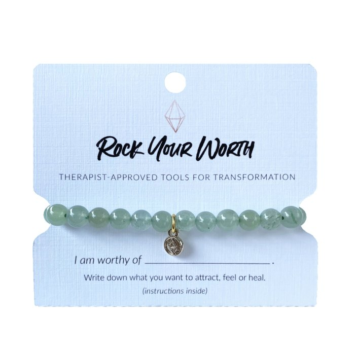 Green Aventurine Beaded Bracelet Rock Your Worth