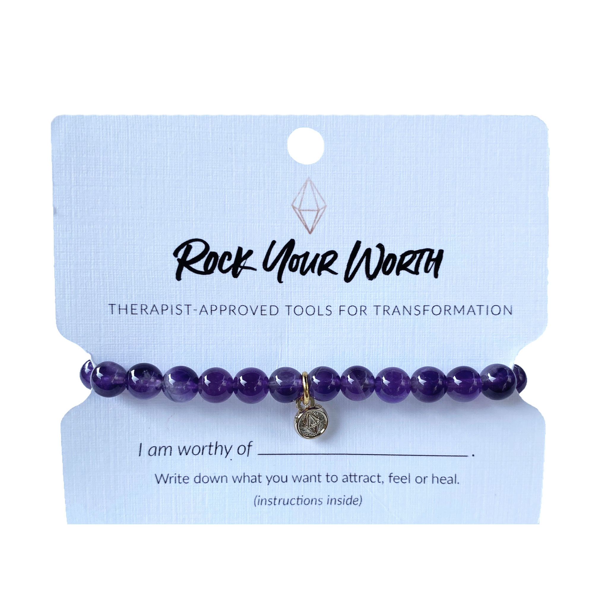 Amethyst Bracelet Rock Your Worth