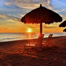 Sunset at Las Palomas beach