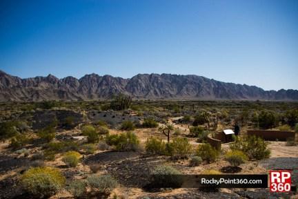 Vista desde el centro de viitantes schuck toak en la reserva de la biosfera del pincacate y gran desierto de altar, puerto penacso sonora